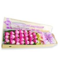 분홍장미 꽃상자