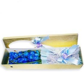 파란장미 꽃상자